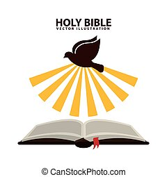 holy bible graphic design , vector illustration
