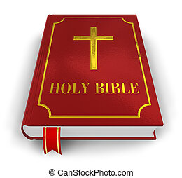 Holy Bible - Red Holy Bible isolated on white background