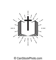 Holy Bible icon with the cross.