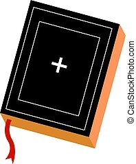 Holy bible, illustration, vector on white background.