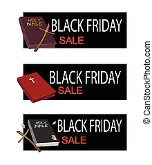 Holy Bible on Black Friday Sale Banner