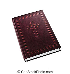Holy Bible on white background - Holy Bible. Hardcover Bible...