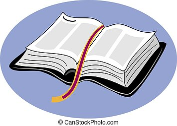 Open bible design.