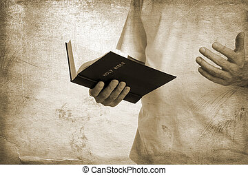 Holy bible - special toned great for your design and...