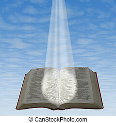 Holy bible - The bible illuminated by a beam of light