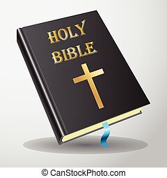 Holy bible vector - Black Holy bible