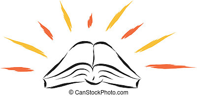 holy book - abstract illustration of holy religious book...