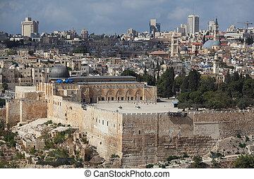 Holy City of Jerusalem. The Al-Aqsa Mosque
