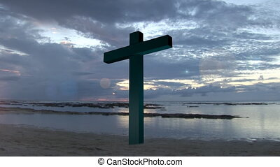 Holy Cross 1 - Religious stock footage of a Holy Cross