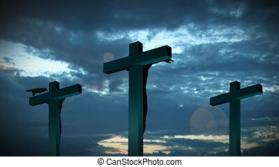 Holy Cross 5 - Religious stock footage of a Holy Cross