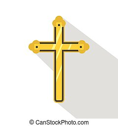 Holy cross icon , flat style