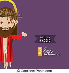 holy design over purple background vector illustration