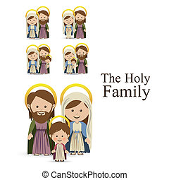holy family design over white background vector illustration...