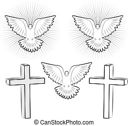 Holy Ghost and cross