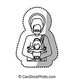 Holy joseph christianity - Holy joseph icon vector...
