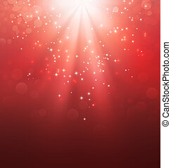 Holy light on red