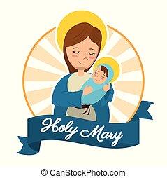 holy mary baby jesus catholic statue image