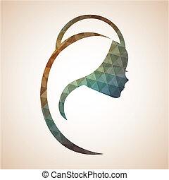 Holy Mary design over beige background, vector illustration