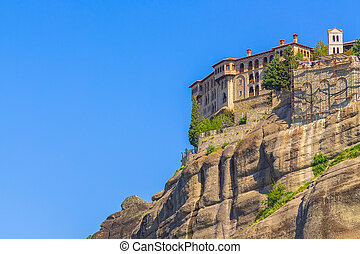 Holy Monastery of Varlaam, Meteora, Greece - View of the ...