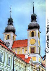 Holy Name of Jesus Church in Telc, Czech Republic, Europe