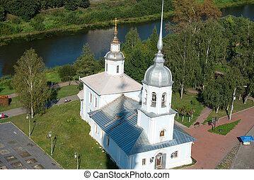 Holy Resurrection cathedral on Kremlin square in Vologda, ...