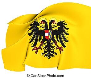 Holy Roman Empire Flag (1493-1556). Close Up.