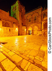 Holy Sepulchre Cathedral at Night, Jerusalem