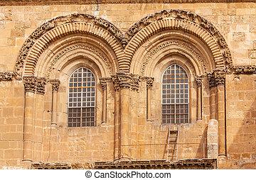 Holy Sepulchre Cathedral at sunset, Jerusalem