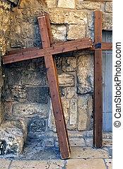 Holy Sepulchre Crosses, Jerusalem - Photo of crucifixion...
