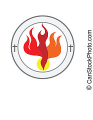 Holy spirit Church logo - art vector design