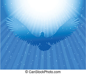 Power in the holy spirit-vector illustration