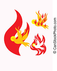 Holy spirit fire - art vector design