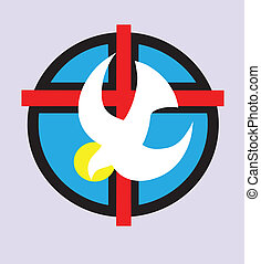 Holy spirit logo art vector