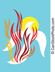 Holy spirit of fire - art vector design
