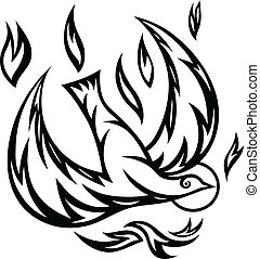 Holy spirit ornate art design