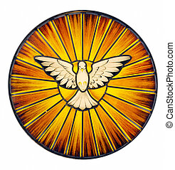 Holy Spirit Stained Glass - Stained glass depicting the...