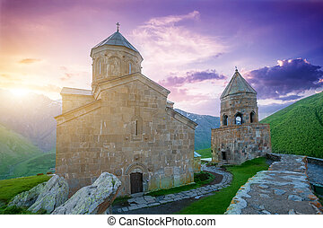 Mediaeval Church in mountains