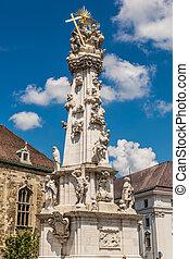 Holy trinity column in Budapest