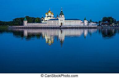Holy Trinity Ipatiev Monastery at night, Kostroma, Russia