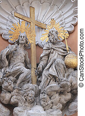 Holy Trinity, statue on the portal of Dreifaltigkeitskirche...