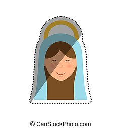 Holy virgin mary cartoon icon vector illustration graphic...