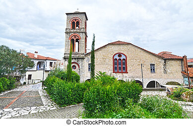 Holy Visitation church at the old city of Trikala Thessaly ...