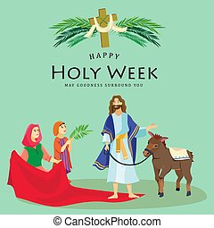 Holy week Good Friday, crucifixion of Jesus and his death,...