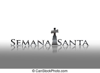Holy week. - Illustration with phrase Holy week on white...