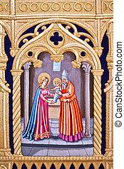 holy week in Malaga, Spain. Grace virgin.