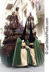 Holy week procession in Jumilla (Spain)