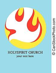 Holyspirit Church logo - Church icon logo, art vector design