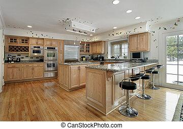 eiche cabinetry hell holz inneneinrichtung kueche stockbilder suche stockfotos. Black Bedroom Furniture Sets. Home Design Ideas