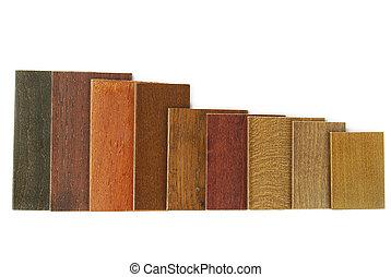 Farbe Holz Brauner Palette Sechs Holz Proben Ahorn