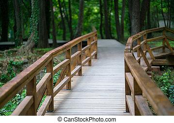 holzbrücke, national, krka, park